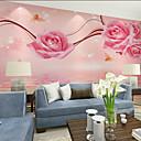 levne Tapety-růžové květinové art deco tapety nástěnné plátno obložení