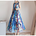 hesapli Yumuşak Kap, Polar ve Dağcılık Ceketleri-kadın midi tunik elbise şifon fuşya mavi gri s m l xl
