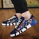 baratos Tênis Masculino-Homens Sapatos Confortáveis Lona Primavera Tênis Preto / Branco / Azul