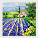 povoljno Slike krajolika-Hang oslikana uljanim bojama Ručno oslikana - Pejzaž Moderna Uključi Unutarnji okvir / Prošireni platno