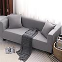 رخيصةأون غطاء-غطاء أريكة لون سادة مصبوغ بخيط الغزل بوليستر الأغلفة