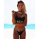 cheap Motorcycle Jackets-Women's Basic White Black Red Halter Cheeky Tankini Swimwear - Solid Colored Backless S M L White