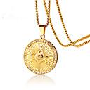 povoljno Dijelovi i dodaci za 3D printer-Muškarci Ogrlice s privjeskom Klasičan Moda nehrđajući Zlato 60 cm Ogrlice Jewelry 1pc Za Dar Dnevno
