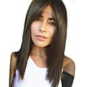 hesapli Bonesiz-İnsan Saçları Kapsız Peruklar Gerçek Saç Doğal düz Yan parça Modaya Uygun Takı / Büyük indirim / Rahat Siyah Uzun Bonesiz Peruk Kadın's / Doğal saç çizgisi