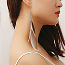 cheap Earrings-Women's Earrings Feather Earrings Cheap Jewelry Silver For Party Anniversary Daily Going out Festival 1 Pair