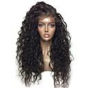 זול פיאות תחרה סינטטיות-סינתטי תחרה פאות הקדמי Kinky Curly סגנון עם שיער תינוקות חזית תחרה פאה שחור שיער סינטטי 24 אִינְטשׁ בגדי ריקוד נשים עמיד לחום Party נשים שחור פאה בינוני