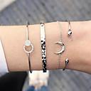 voordelige Ring-Dames Cuff armbanden Armband Meerlaags Crescent Moon Eenvoudig Europees Strass Armband sieraden Goud / Zilver Voor Dagelijks Straat