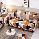 זול כיסויים-כיסוי ספה עם כיסויי ספה עם כיסוי ספה בדוגמת גיאומטרית מסוגננת במיוחד מפוליאסטר נמתח במיוחד