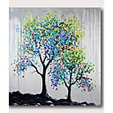 levne Abstraktní malby-Hang-malované olejomalba Ručně malované - Abstraktní Současný styl Moderní Obsahovat vnitřní rám