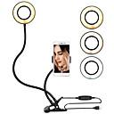 halpa Erikoislaitteet-johti uutuus valaistus usb mobiili haltija rengas kevyt selfie sävytys 3 väriä kirkkaus säädettävä live stream meikki kamera lamppu