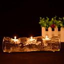 halpa Kynttilät ja kynttilänjalat-Moderni nykyaikainen lasi Kynttilänjalat Kynttelikkö 1kpl, Kynttilä / kynttilänjalka