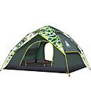 זול Kids' Flats-Sheng yuan 3 איש אוהלים לטיפוס הרים משפחה אוהל קמפינג חיצוני עמיד מוגן מגשם נשימה שכבה כפולה קמפינג אוהל >3000 mm ל חוף מחנאות / צעידות / טיולי מערות לטייל בד אוקספורד 200*230*140 cm
