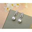 povoljno Naušnice-Žene Viseće naušnice Geometrijski Stilski Jednostavan Biseri Naušnice Jewelry Pink Za Vjenčanje Dnevno Spoj 1 par