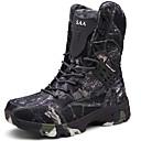 זול מגפיים לגברים-בגדי ריקוד גברים Cowboy / Western Boots קנבס סתיו חורף ספורטיבי / וינטאג' מגפיים טיפוס שמור על חום הגוף מגפיים באורך אמצע - חצי שוק קולור בלוק אפור / חום