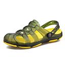 זול סנדלים לגברים-בגדי ריקוד גברים נעלי נוחות PVC קיץ יום יומי סוגי כפכפים הליכה נושם שחור / צהוב בהיר / כחול
