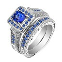 cheap Rings-Men's Women's Ring Ring Jewelry Blue For Gift Daily 2pcs