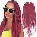 cheap Hair Braids-Braiding Hair Straight Extension / Crochet Hair Braids Synthetic Hair 30 roots / pack Hair Braids Black 18 inch 18 inches Synthetic / Faux Locs Wig / Jamaican Bounce Hair Party / Party Evening