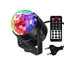 halpa esitysvalot-1kpl 3 W 5 LED-helmet Kauko-ohjain LED-esitysvalot RGB + valkoinen 100-240 V Näyttämö