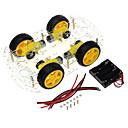 billige Motherboards-4 hjulet smart bil chassis diy kit kode hjul hastighed tracking bluetooth fjernbetjening bil tilbehør