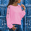 halpa Muotikaulakorut-Naisten Löysä Patchwork Yhtenäinen Pluskoko - T-paita Musta