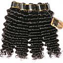 halpa Aitohiusperuukit-6 pakettia Brasilialainen Syvät aallot 100% Remy Hair Weave -paketit Hiukset kutoo Yksi pakkaus ratkaisu Aitohiuspidennykset 8-28 inch Luonnollinen väri Hiukset kutoo Vesiputous Pehmeä uusi Hiukset