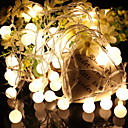 povoljno Stare svjetske nošnje-10m Žice sa svjetlima 100 LED diode Toplo bijelo Ukrasno 220-240 V 1set