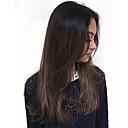 halpa Synteettiset peruukit-Naamiaistarvikkeet / Synteettiset peruukit Suora / Kinky Straight Tyyli Epäsymmetrinen leikkaus Suojuksettomat Peruukki Tummanruskea Musta / Ruskea Synteettiset hiukset 24 inch Naisten Muodikas malli