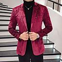 preiswerte Herrenhalbschuhe-Herrn Übergrössen Blazer Gekerbtes Revers Polyester Rote XL / XXL / XXXL / Schlank