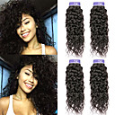 halpa Aitohiusperuukit-4 pakettia Brasilialainen Vesiaalto Käsittelemätön aitoa hiusta 100% Remy Hair Weave -paketit Hiukset kutoo Bundle Hair Aitohiuspidennykset 8-28 inch Luonnollinen väri Hiukset kutoo Hajuton Party