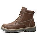 זול מגפיים לגברים-בגדי ריקוד גברים נעלי נוחות PU סתיו חורף מגפיים מגפונים\מגף קרסול שחור / חום / חאקי / מגפיי קרב