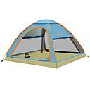 رخيصةأون مفارش و خيم و كانوبي-KEUMER 4 شخص خيمة التخييم العائلية في الهواء الطلق ضد الهواء مكتشف الأمطار يمكن ارتداؤها طبقة واحدة أوتوماتيكي خيمة التخييم 1500-2000 mm إلى Camping / Hiking / Caving تنزه كربون فيبر قماش اكسفورد