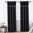 cheap Sheer Curtains-Contemporary Blackout One Panel Curtain Living Room   Curtains / Jacquard