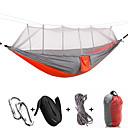 billiga Campingmöbler-Campinghammock med myggnät Dubbel hängmatta Utomhus Bärbar Ultra Lätt (UL) Anti-mygg Nylon för 2 personer Camping Resor Kamoflage Rosa + Blue Sky Blue + Blue 260*140 cm