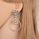 ราคาถูก ตุ้มหู-สำหรับผู้หญิง คริสตัล Drop Earrings ภรรยาขุนนางมาร์ควิซ Flower ง่าย เกี่ยวกับยุโรป อินเทรนด์ แฟชั่น ที่ทันสมัย ต่างหู เครื่องประดับ สีทอง สำหรับ ทุกวัน Street ฮอลิเดย์ ทำงาน 1 คู่