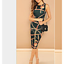 cheap Ethnic & Cultural Costumes-Women's Going out Slim Sheath Dress - Graphic Print Summer Green Black Red L XL XXL