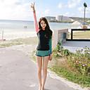 halpa Märkäpuvut, sukelluspuvut ja suoja-asut-Naisten Rashguard-uimapuku Uima-asut UV-aurinkosuojaus Tuulenkestävä Pitkähihainen Uinti Sukellus Patchwork Syksy Kevät Kesä / Elastinen