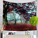 levne Nástěnné tapiserie-Květinový motiv Wall Decor Polyester Moderní Wall Art, Nástěnné tapiserie Dekorace