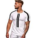 hesapli Erkek Gömlekleri-Erkek Yuvarlak Yaka İnce - Tişört Çizgili Siyah