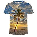 billige Sexet Organer-Herre - Galakse / Farveblok / 3D Trykt mønster T-shirt Regnbue XL
