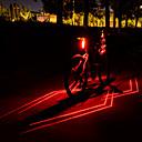 halpa Urheilurintaliivit-Laser LED Pyöräilyvalot Polkupyörän jarruvalo turvavalot Maastopyöräily Pyöräily Vedenkestävä Useita toimintatiloja Super Bright Li-ion 80 lm USB Ladattava Punainen Telttailu / Retkely / Luolailu