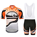 cheap Cycling Pants, Shorts, Tights-MUBODO Men's Short Sleeve Cycling Jersey with Bib Shorts - Black / Red Bike Clothing Suit Breathable Quick Dry Reflective Strips Sports Mesh Mountain Bike MTB Road Bike Cycling Clothing Apparel