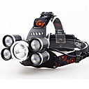 رخيصةأون المصابيح اليدوية وفوانيس الإضاءة للتخييم-LED اضواء الدراجة مصابيح أمامية LED ركوب الدراجة محمول بطارية ليثيوم 5000 lm المدمج في بطارية ليثيوم بالطاقة أبيض Camping / Hiking / Caving Everyday Use