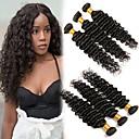 halpa Aitohiusperuukit-6 pakettia Brasilialainen Syvät aallot Remy-hius Hiukset kutoo Bundle Hair Yksi pakkaus ratkaisu 8-28inch Luonnollinen väri Hiukset kutoo Vastasyntynyt Vesiputous Cute Hiukset Extensions Naisten