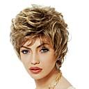 halpa Synteettiset peruukit ilmanmyssyä-Synteettiset peruukit / Otsatukat Kihara Tyyli Vapaa osa Suojuksettomat Peruukki Kulta Musta ja kulta Synteettiset hiukset 12 inch Naisten Naisten / synteettinen / Sexy Lady Kulta Peruukki Lyhyt