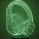 halpa Koristevalot-1kpl: n johtama kuulokkeen muotoinen yövalon väri muuttuu usb-luova <= 36 V>