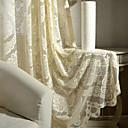 זול וילונות שקופים-עכשווי דק ושקוף פאנל אחד דק ושקוף סלון   Curtains / ג'אקארד