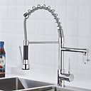 cheap Chandeliers-Kitchen faucet - One Hole Chrome Pull-out / ­Pull-down Deck Mounted Contemporary / Brass / Single Handle One Hole