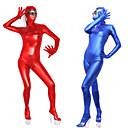 halpa Zentai-Kiiltävät Zentai asut Kissapuku Ihon puku Ninja Aikuisten Lateksi Cosplay-asut Cosplay Halloween Naisten Rubiini / Sininen / Kultainen Yhtenäinen Halloween Masquerade / Erittäin elastinen