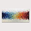 זול ציורים מופשטים-ציור שמן צבוע-Hang מצויר ביד - מופשט פרחוני / בוטני קלסי מודרני ללא מסגרת פנימית / בד מגולגל