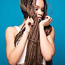 זול צמות שיער-שיער קלוע ישר אפר קינקי צם הסרוגה שיער צמות שיער סינטטי 6 חלקים שיער צמות צבע טבעי 28 אינץ' עמיד לחום צמות הסרוגה עם שיער האדם 100% שיער קנקלון חתונה לבוש ליום צמות אפריקאיות